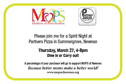 Partners Pizza Spirit Night