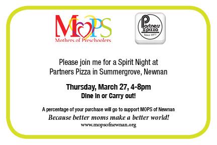 Partners Pizza Spirit Night